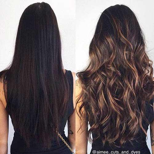 cabelos cor de mel iluminados
