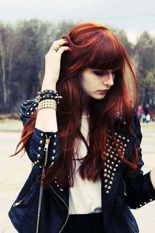 cabelos vermelhos longos