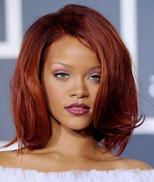 cabelos avermelhados da rihanna
