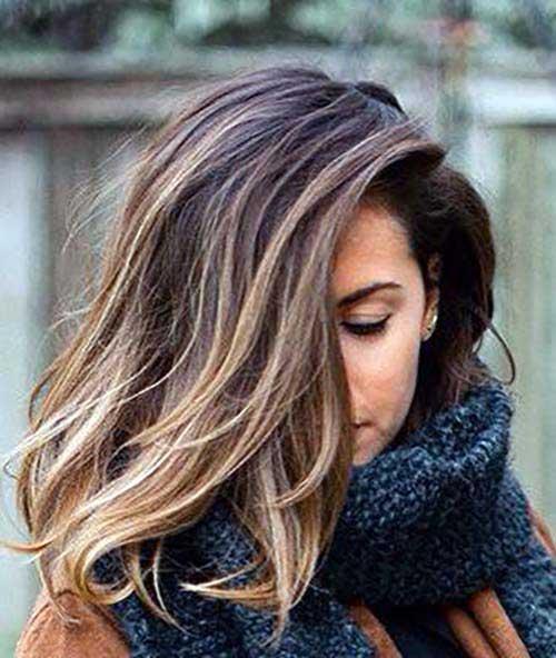 cabelos curtos com balaiagem