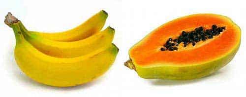banana e mamao sao bons para o cabelo