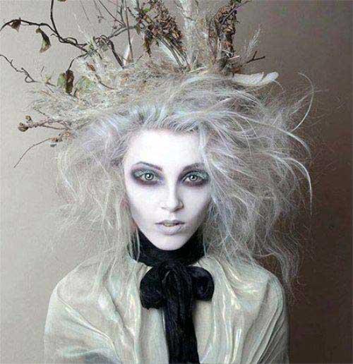 cabelos e maquiagem arboreos
