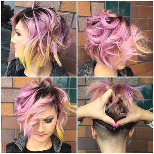 cabelos coloridos na cor rosa