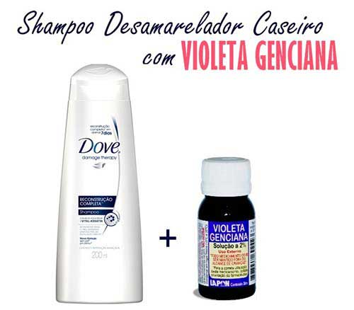 shampoo violeta com violeta genciana