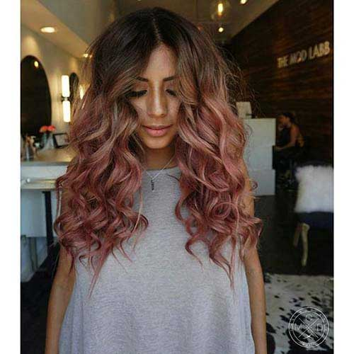cabelos rosas lindos