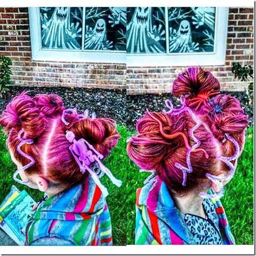 cabelos coloridos com efeito