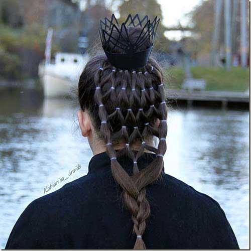 cabelos imitando teia de aranha