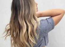 cabelo em v loiro visto de tras