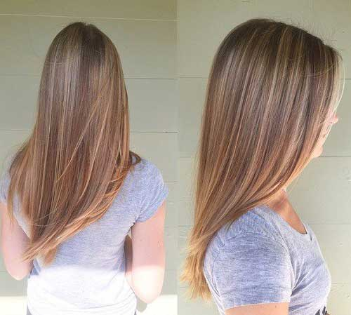 corte em v simples em cabelo de mulher