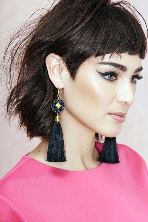cabelos de mulher com franjinha