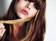 mechas douradas nos cabelos
