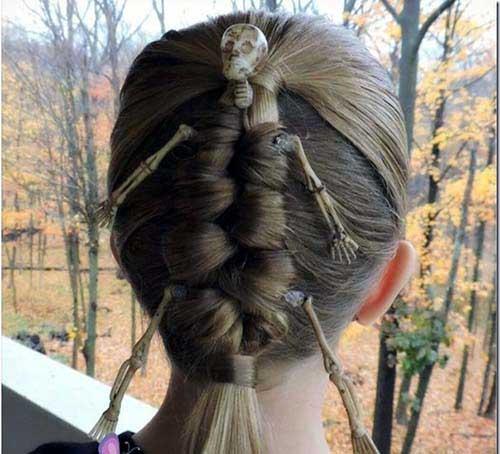penteado infantil de caveira
