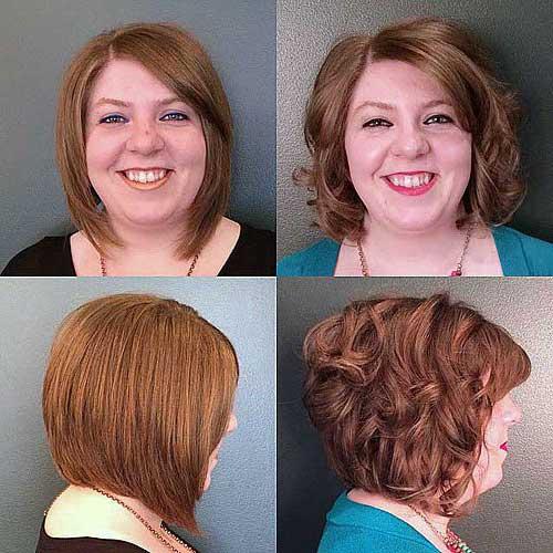 corte de cabelo feminino para rosto redondo em pessoa acima do peso