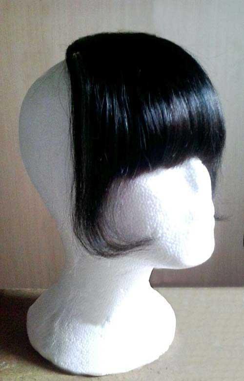 cabelo com franja preta