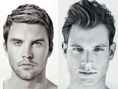 cabelos masculinos em rosto redondo da moda