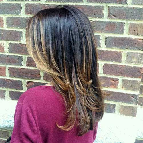 cabelo liso iluminado