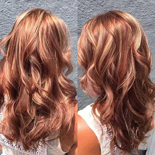 cabelos avermelhados loiros