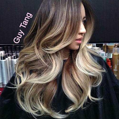 cabelo loiro escuro iluminado