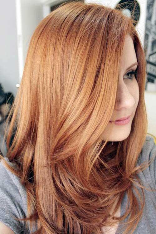 loiro morango especial em cabelo liso