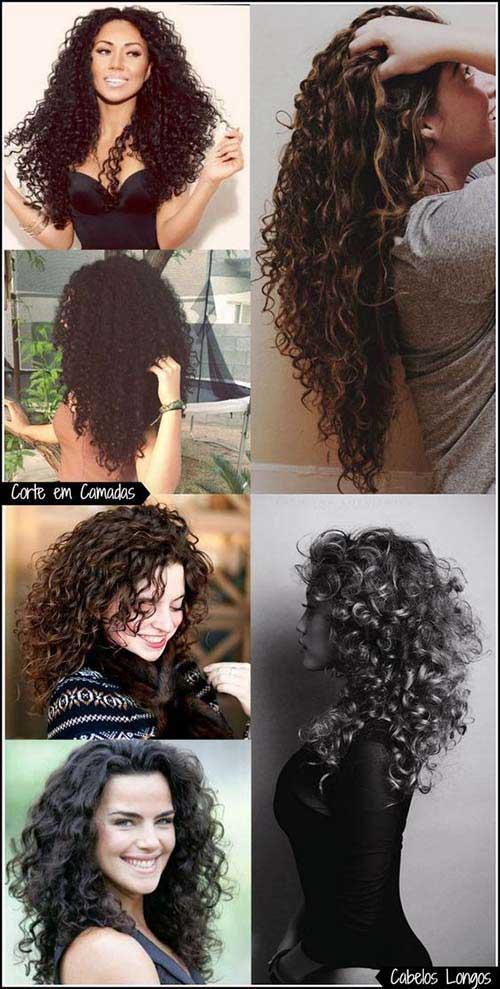 cabelo longo cacheado bonito fotos