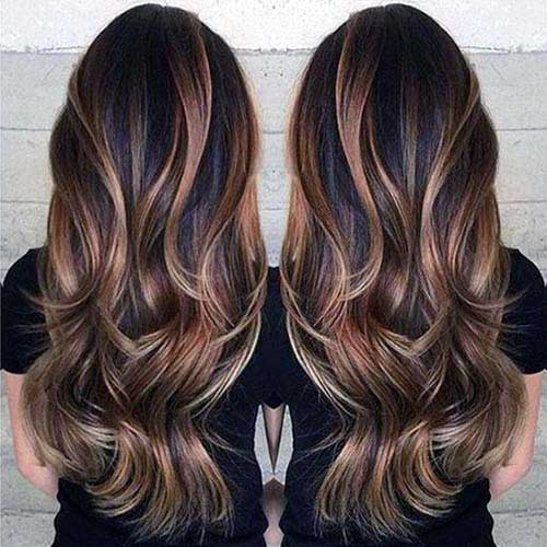 cabelos com sombre hair