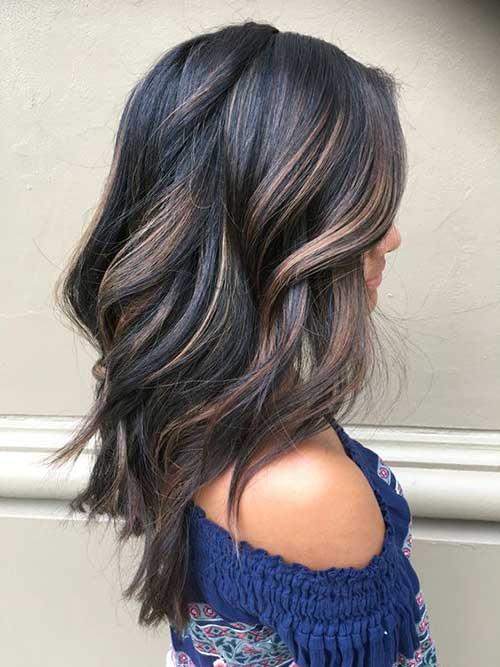 cabelos negros iluminados