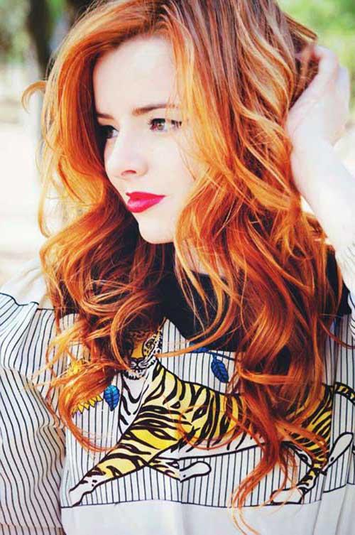 cabelos vermelhos e loiros