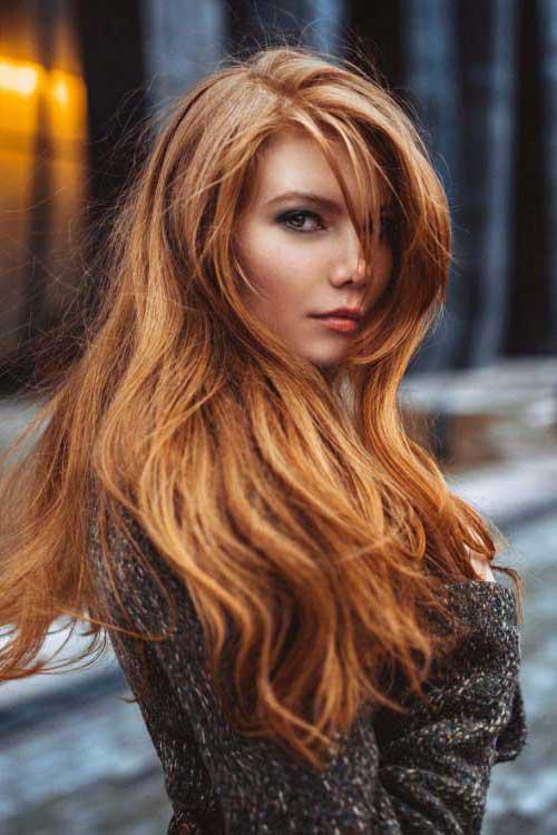 cabelos com luzes nas pontas