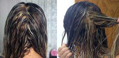 cabelo com luzes manchadas