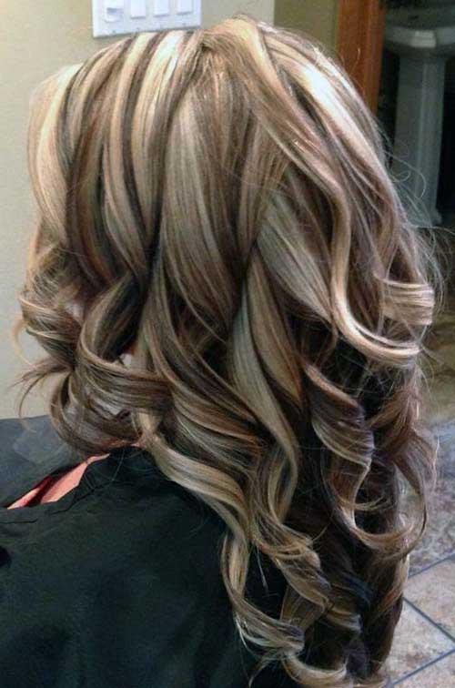 cabelos com mechas invertidas
