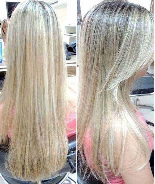 cabelo com mega hair amarelo