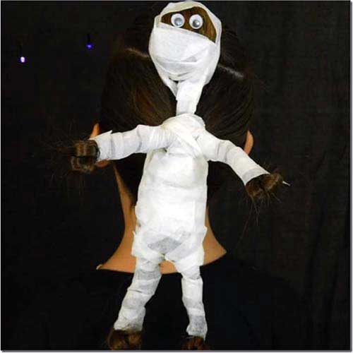 mumia feita com as madeixas