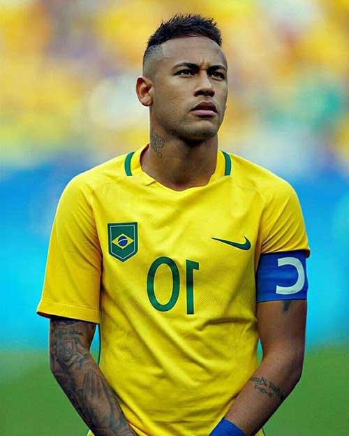 neymar com undercut da moda