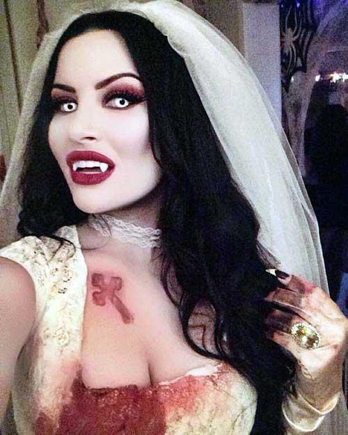 cabelo e make de noiva vampira