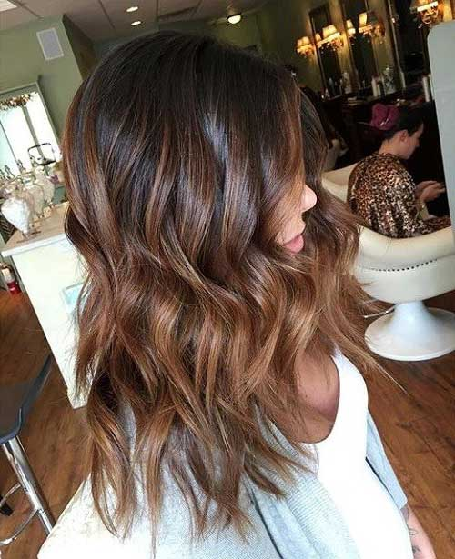 cabelo marrom escuro com ombre hair