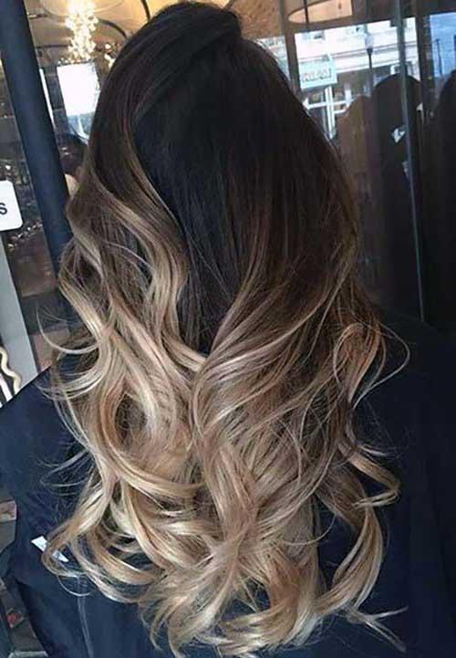 ombre hair no cabelo marrom