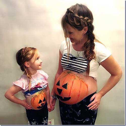 penteados e fantasias semelhantes para mae e filha