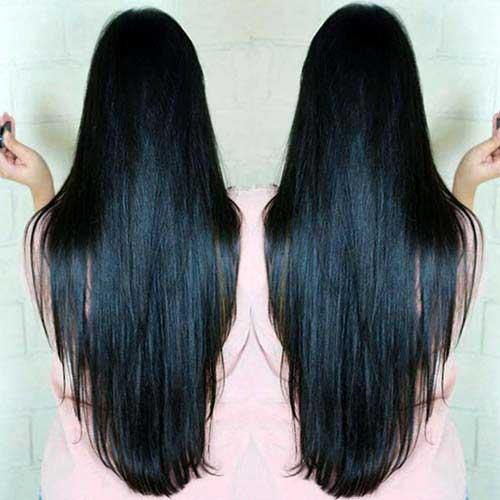 cabelos pretos lisos de aplique