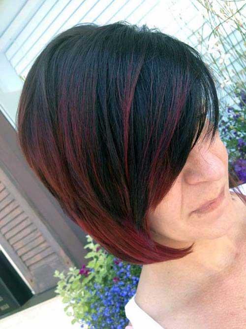 cabelos de bico vinho