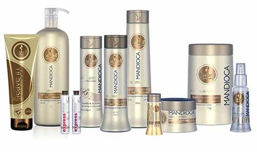 shampoos profissionais de mandioca