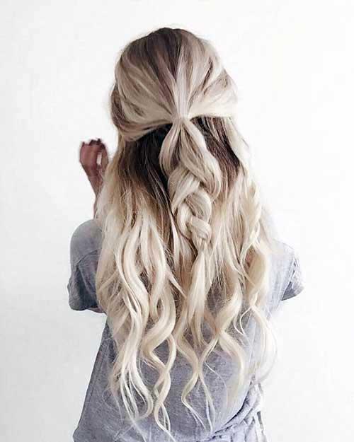 penteado em cabelo quase branco