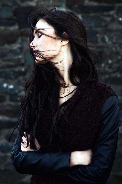 cabelo castanho e preto
