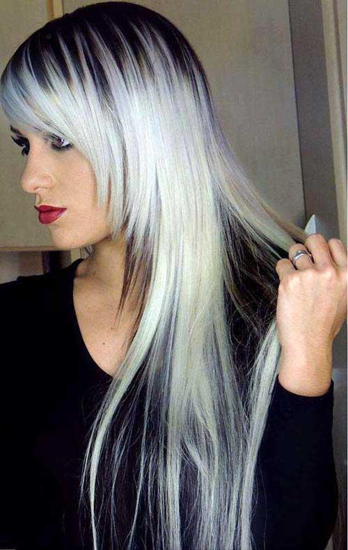 cabelo quase branco platinado