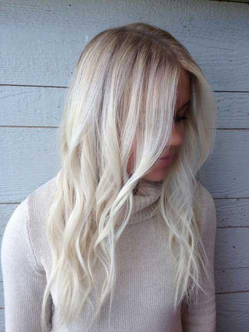 cabelo platinado com raiz mais escura