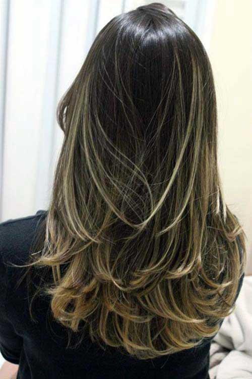 cabelo repicado com ombre