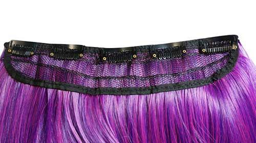 cabelo de aplique cor fantasia