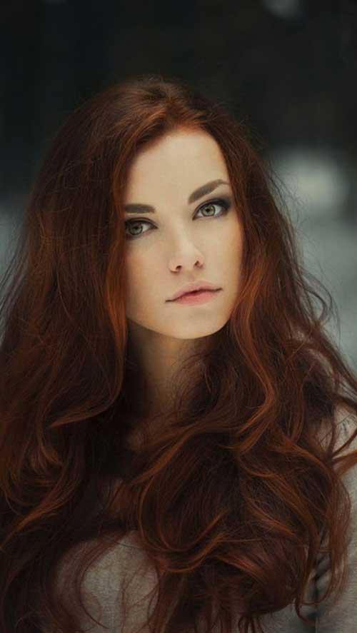 cabelos avermelhados e cobre