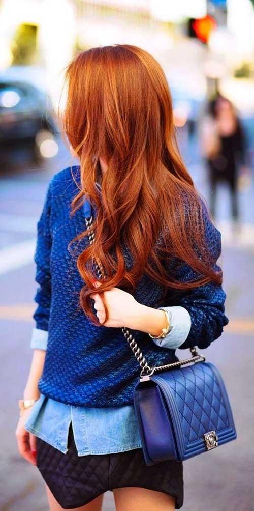 cabelo cor de fogo