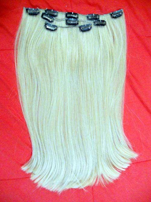 cabelo loiro sintetico