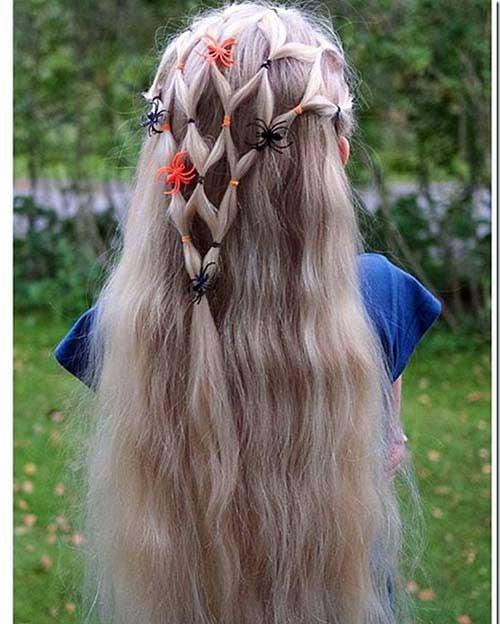 cabelo com teia